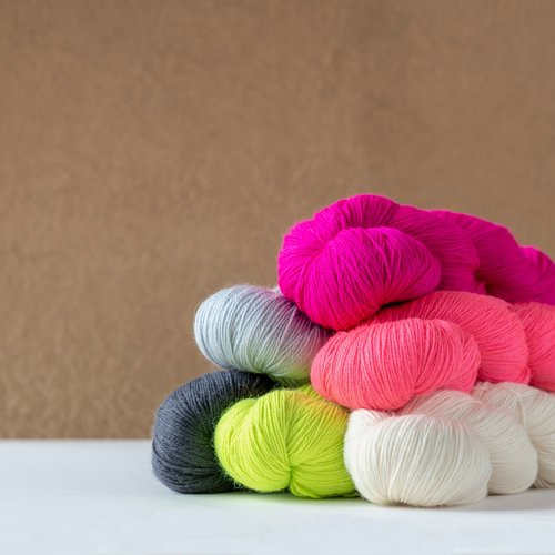 Kelbourne Woolens Perennial Light Fingering yarn made in USA with Superwash Merino, Suri Alpaca, Nylon Wool blend