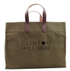 Clinton Hill Cashmere Tote Bag with genuine leather handles