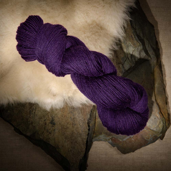The Fiber Co. Cumbria Fingering purple Yarns
