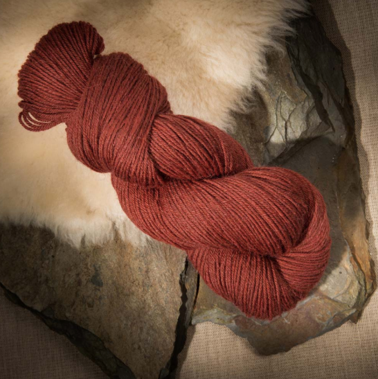 The Fiber Co. Cumbria Fingering rust orange Yarn