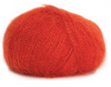 Bouton d'Or Lyre red yarn - Wool, Mohair, Viscose, Polymetal blend from France