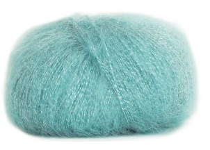 Bouton d'Or Lyre Blue Yarn - Wool, Mohair, Viscose, Polymetal blend from France