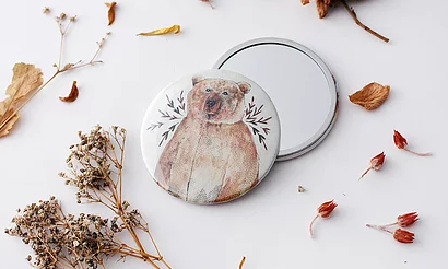 The Blue Rabbit House Pocket Mirror