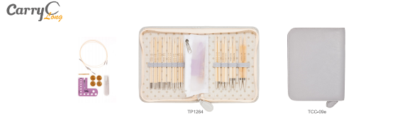 Tulip Carry C Long Interchangeable Knitting Needle Set Open view