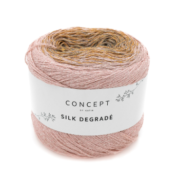 Concept pink yarn by Katia: Silk Degradé