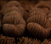 Dyed by Delz BFL Sock Fingering brown yarn