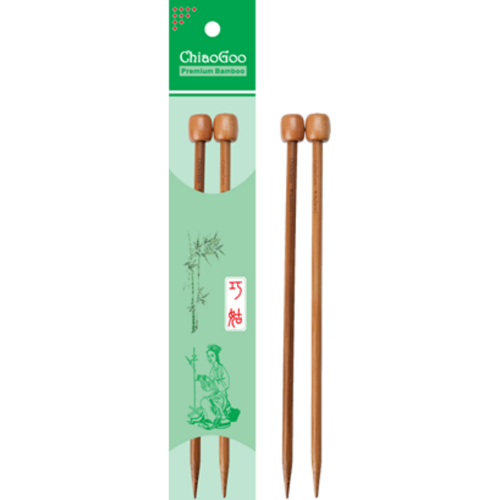 "Chiaogoo 13"" Bamboo Single Point Needles"