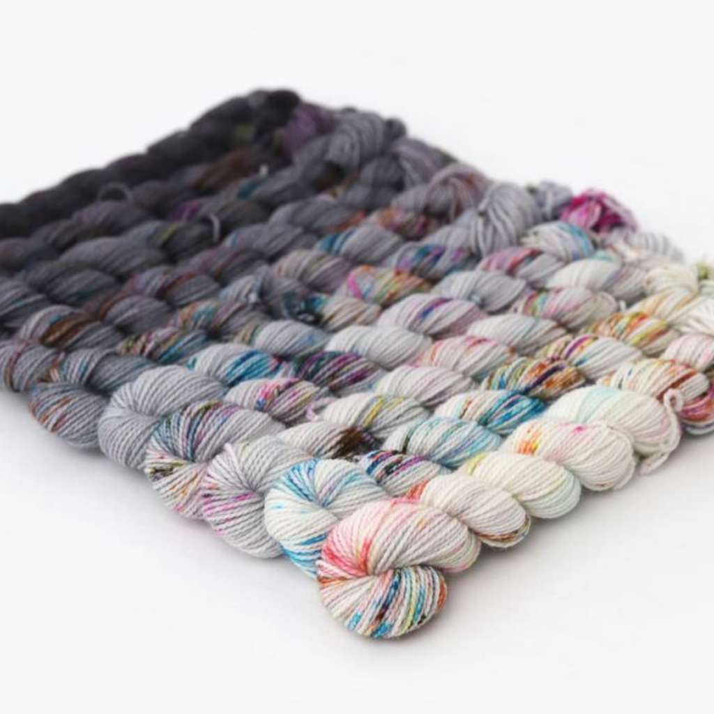 Hue Loco Color Riot Mini Set Single Sock in Toronto - 100% Superwash Merino yarn wool