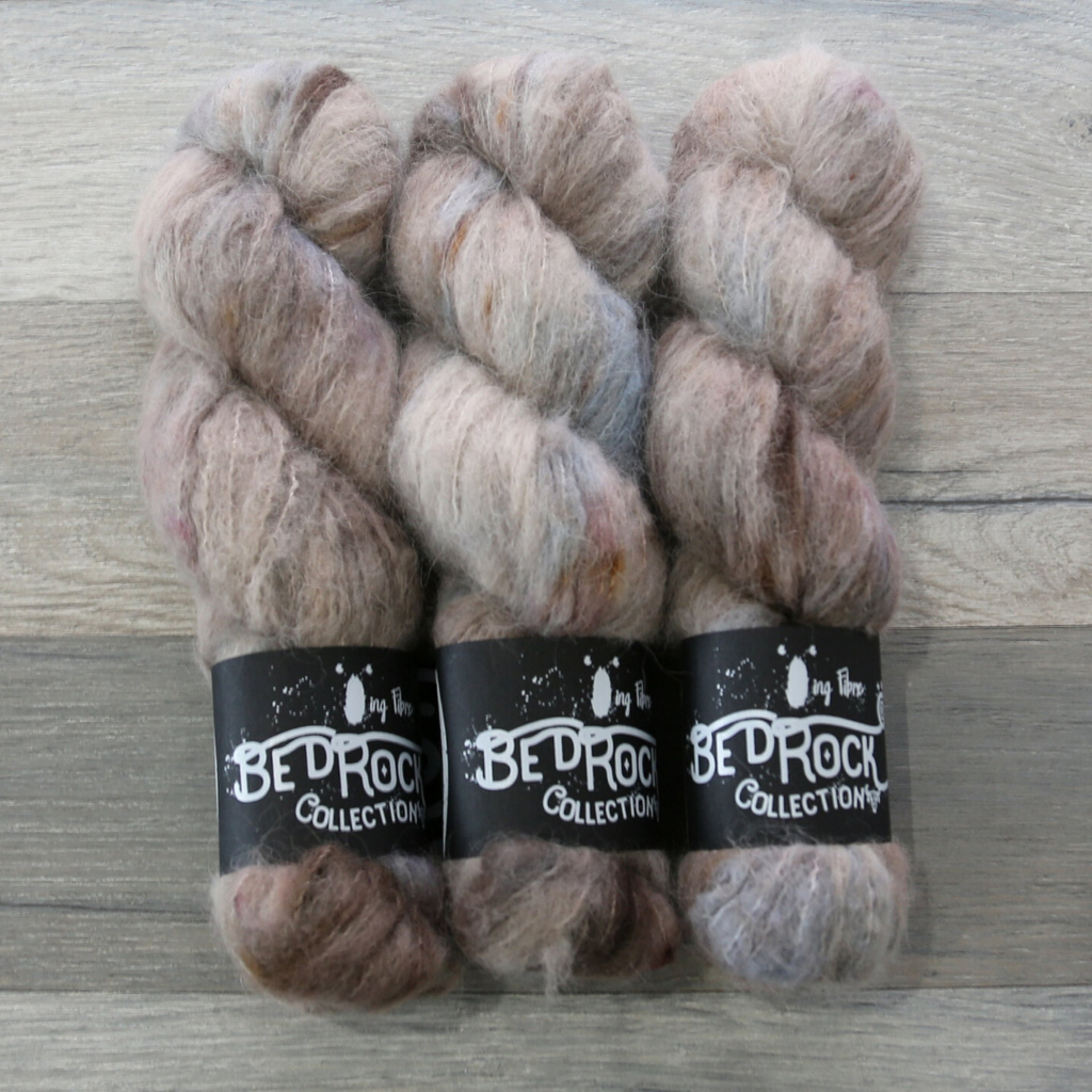 Qing Fibre Melted Baby Suri yarn with Alpaca-Superwash Merino-Silk blend