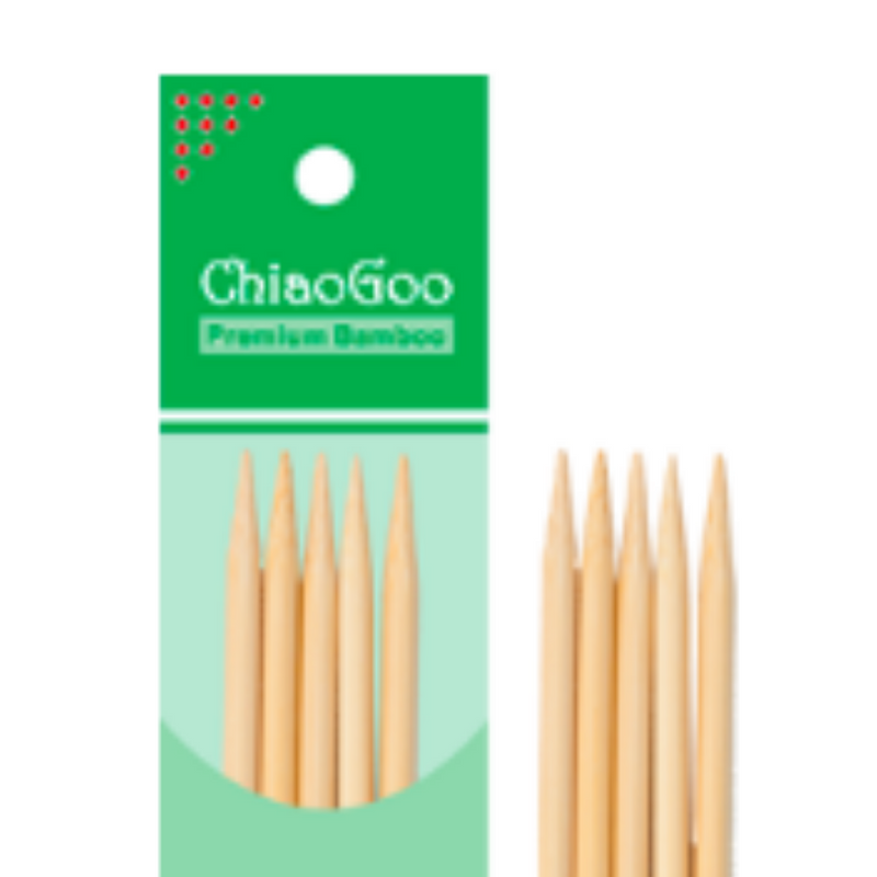 "ChiaoGoo Bamboo Double Pointed Needles (6""/15cm)"