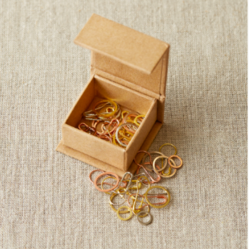 Precious Metal Stitch Markers for knitting