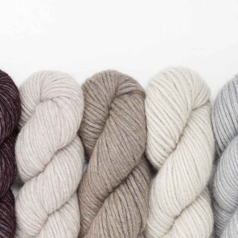 Woolfolk Luft bulky yarn from Merino Wool and Organic Pima Cotton