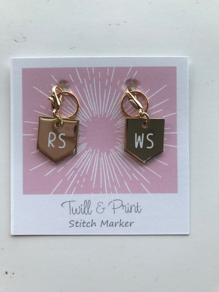 Twill & Print Stitch Markers (Progress Keepers/Knitter's Helpers)