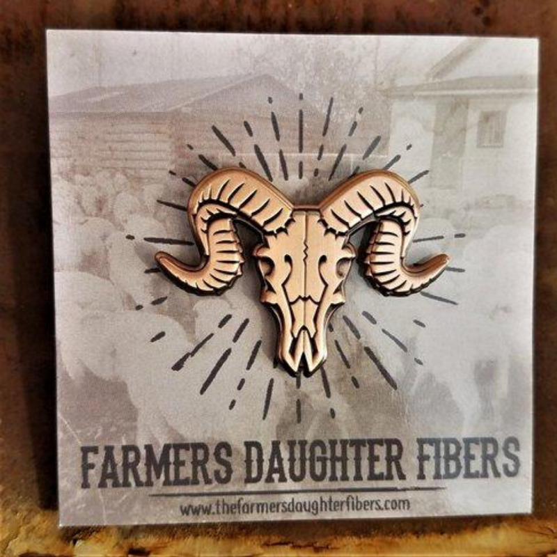 Farmer's Daughter Fibers Brass Enamel Pin