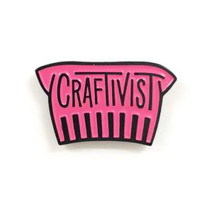 Shelli Can Enamel Craftivist Pins in Toronto, Canada and Online