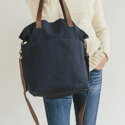 Canvas Crossbody Tote by Twig & Horn