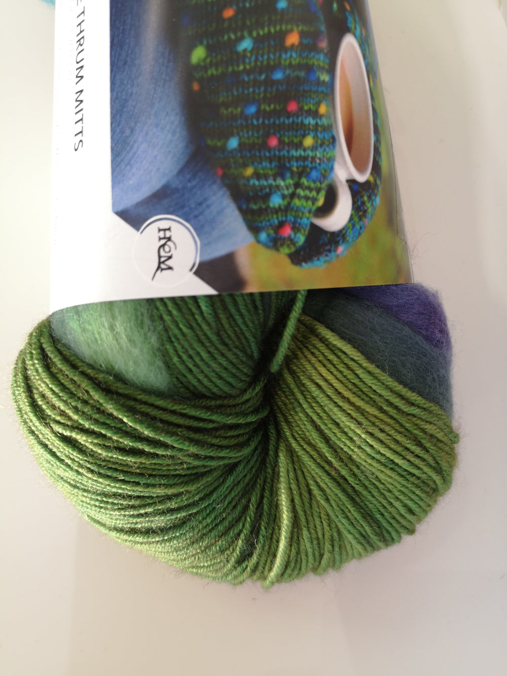Summer Field (Blue/Green/Purple Roving)