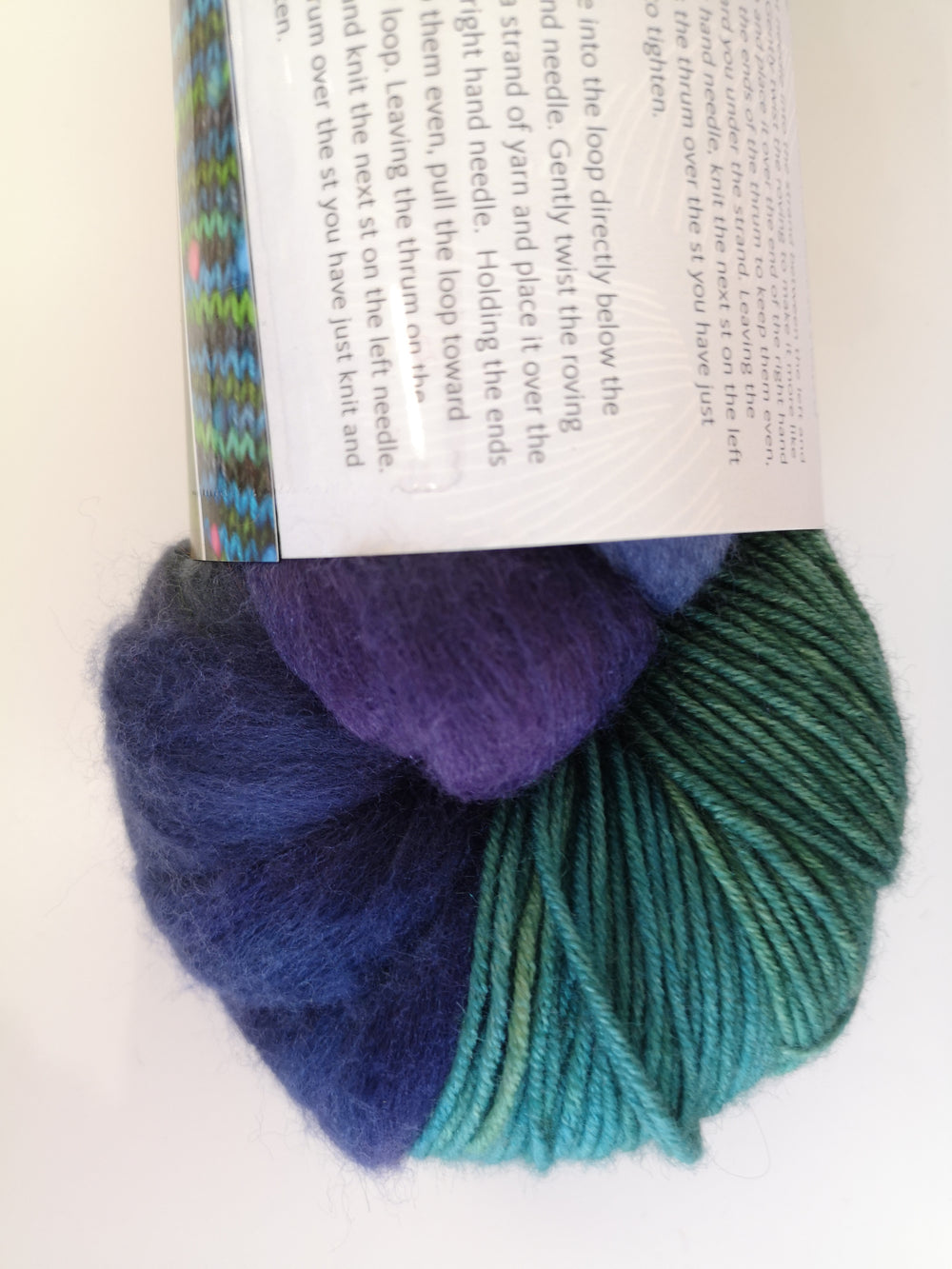 Green & Teal (Blue/Purple Roving)