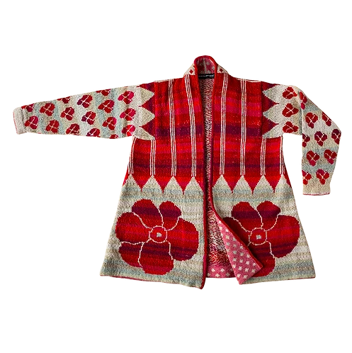 Ikat Coat - Red