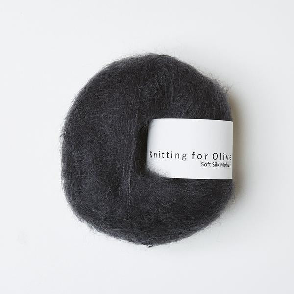 Knitting for Olive Soft Silk Mohair black yarn