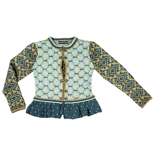 Morning Star Bridal Jacket - Blue/Golden