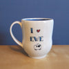 JaMpdx- mug with I (heart) Ewe