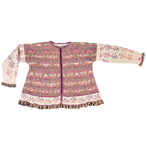 Roses & Thornes Jacket - Brown/Cream/Purple/Rose