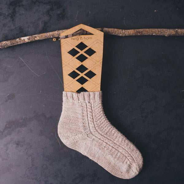Argyle Sock Blockers by Twig & Horn