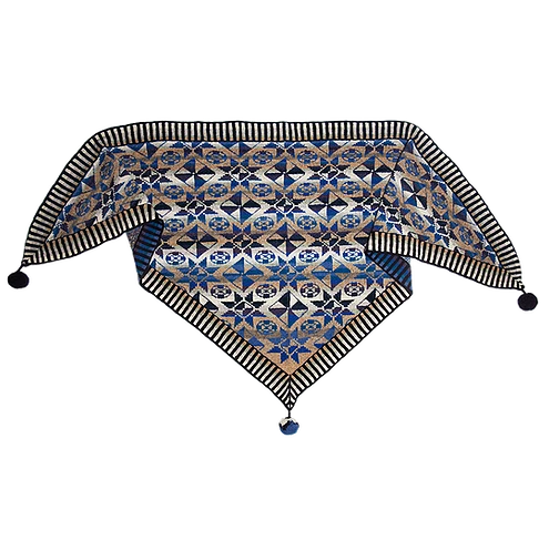 Tiles Shawl Colours of Fano - Blue