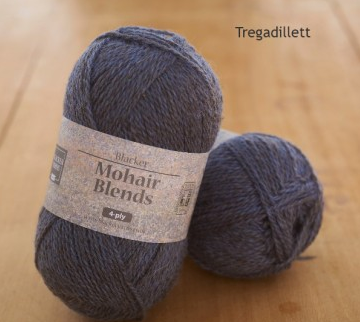 Blacker Yarns - Mohair Blends 4-Ply Sustainable Blue Yarn