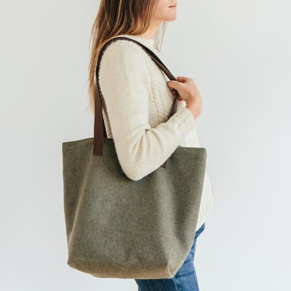 Wool Project Tote by Twig & Horn