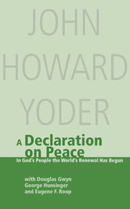A Declaration on Peace