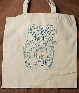 Tote Bag: Walk Cheerfully