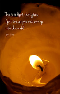 Christmas Card: The true light...