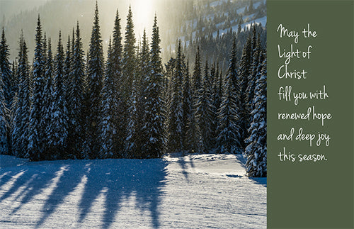 Christmas Card: May the Light of Christ...
