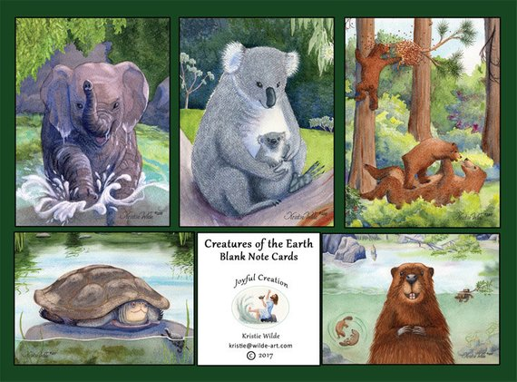 Creatures of the Earth Notecards