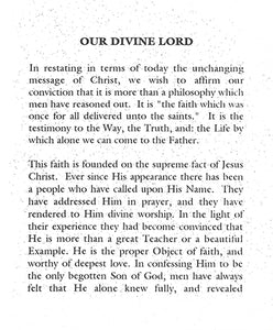 Tract: Our Divine Lord