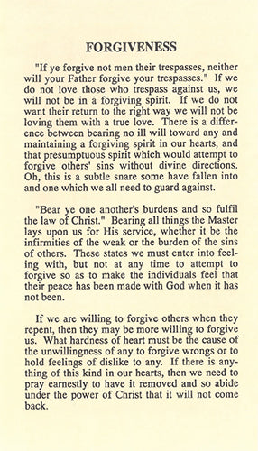 Tract: Forgiveness