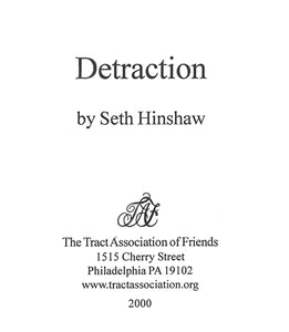 Tract: Detraction