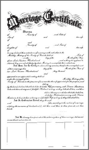 Quaker Marriage Certificate