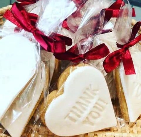 Hel's Kitchen Thank You Personalised Shortbread Biscuit Wedding Favour