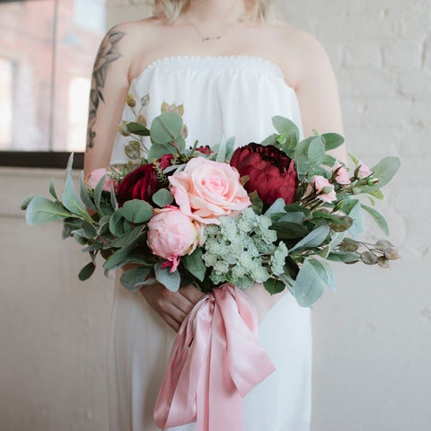 Burgundy Blush bridal bouquet