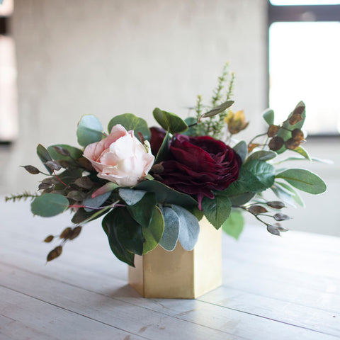 Burgundy Blush centerpiece