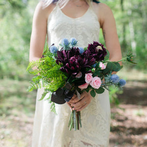Bordeaux bridesmaid bouquet