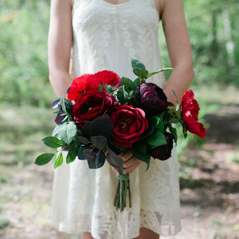 Crimson bridesmaid bouquet