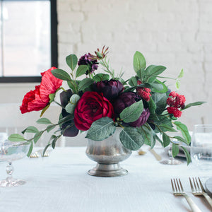 Crimson centerpiece