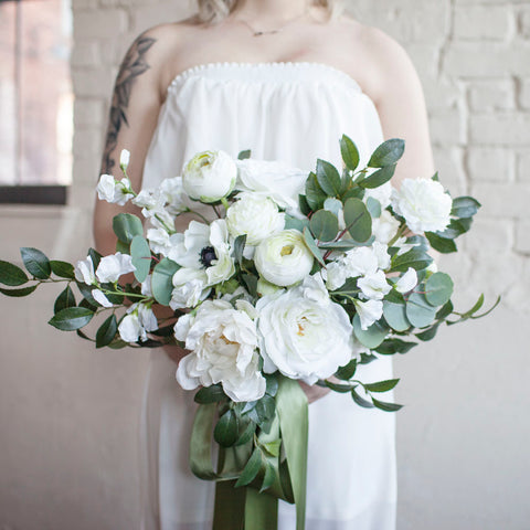 Forest bridal bouquet