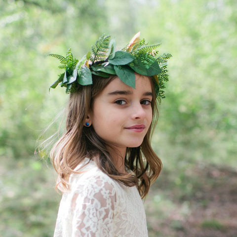 Fern flower crown