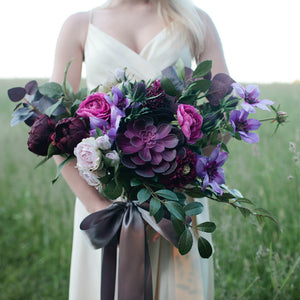 Ultra Violet bridal bouquet