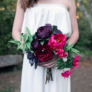 Raspberry bridesmaid bouquet